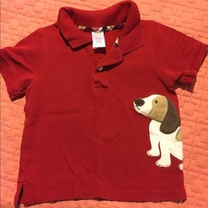 Gymboree textured Dog Polo shirt
